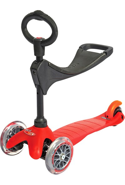 Micro Mini Scooter Red 3 In 1 Oturak Ve T Barlı