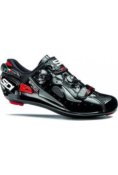 Sidi Ergo 4 Mega Karbon Yol Ayakkabısı Geniş Kalıp Siyah 42