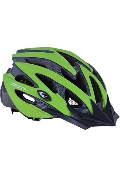 Zozo Işıklı Bisiklet Kaskı Yeşil Uğur