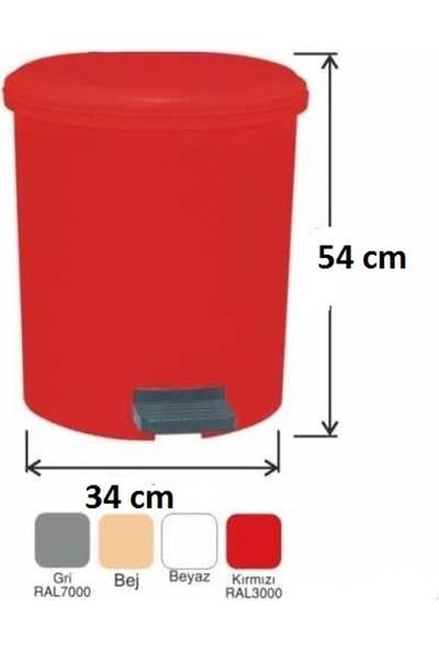 Drn Çöp Kovası Pedallı 40 Litre Kırmızı
