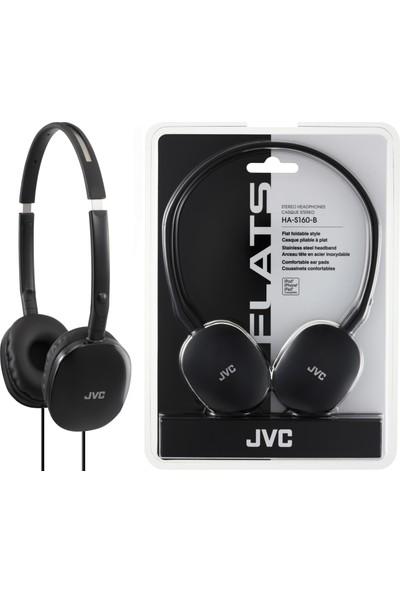 JVC HAS-160BK Kulak Üstü Hafif ve Flat Siyah Renk Kulaklık