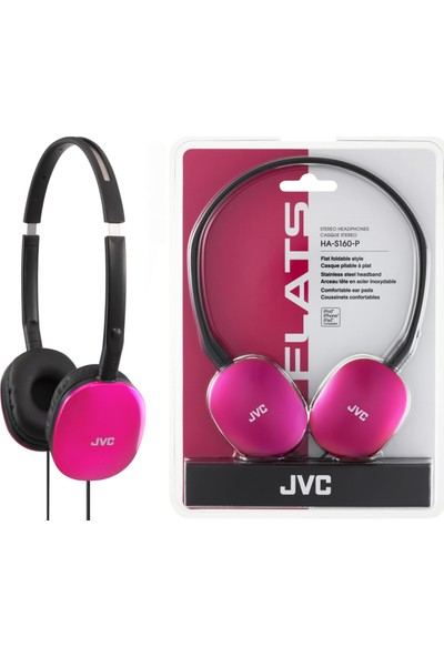 JVC HAS-160PK Kulak Üstü Hafif ve Flat Pembe Renk Kulaklık