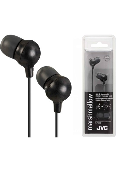 JVC HAF-X30BK MARSHMALLOW Serisi Kulak İçi Siyah Renk Kulaklık