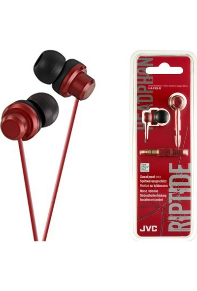JVC HAF-X8RK RIPTIDZ Serisi Kulak İçi Kırmızı Renk Kulaklık