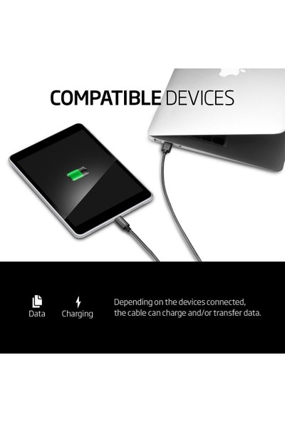 Spigen Essential Type-C 3.1 USB Hızlı Şarj ve Data Kablo (1 Metre) C10C0 - SGP11579