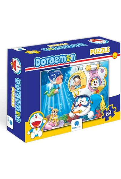 Gizzy Game Doraemon Deniz Altında 60 Parça Puzzle