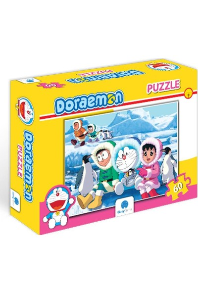 Gizz Game 60 Parça Doraemon Çocuk Puzzle