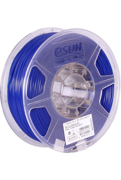eSUN Pla+ Mavi 1,75 mm 3B Yazıcı Filament