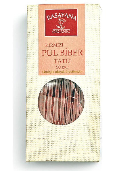 Rasayana Organik Tatlı Kırmızı Pul Biber 50 Gr.