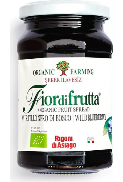 Fior Di Frutta Organik Yaban Mersini Püresi 250 Gr.