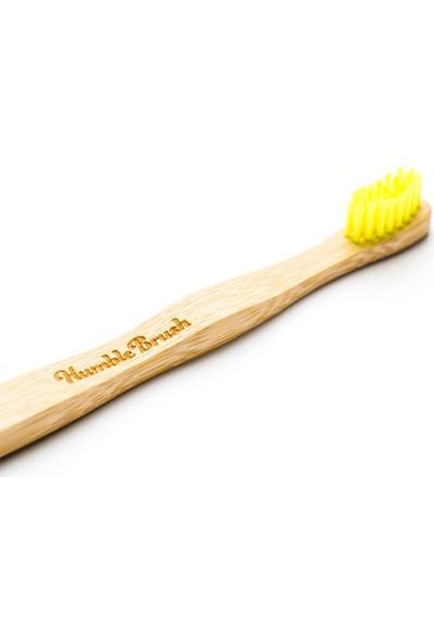 Humble Brush Bambu Çocuk Diş Fırçası - Ekstra Yumuşak - Sarı