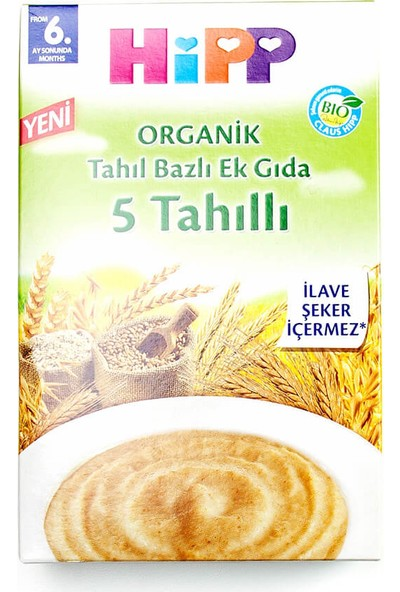 Hipp Organik 5 Tahıllı Tahıl Bazlı Kaşık Maması 200 gr
