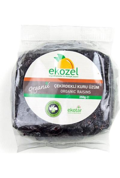 Ekozel Organik Siyah Kuru Üzüm 250 Gr.