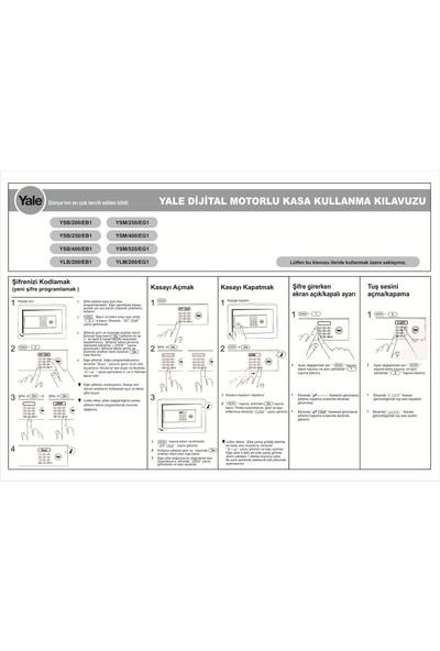 Yale Güvenlik Sertifikalı Motorlu Kasa - Ofis Tipi - YSM/400/EG1