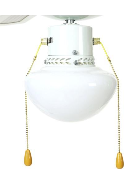 Hepsi Home Bunjee 4 Kanatlı Lambalı 42'' Tavan Vantilatörü Beyaz J42003-XY-1L