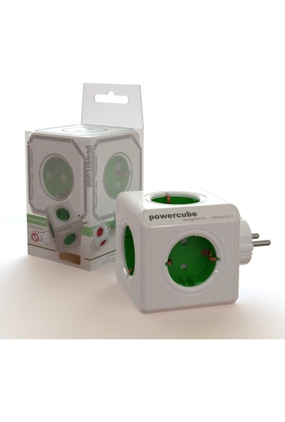 PowerCube Original Akım Korumalı 5'li Küp Priz Çoklayıcı