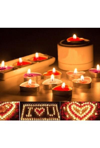 Happy Candle 50 adet Kalp Şeklinde Tea Light Mum mm05-50