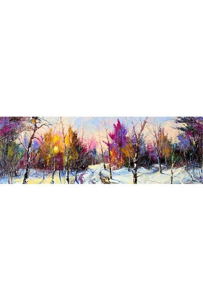 Decobritish Renkli Orman Kanvas Tablo - 40x120 cm