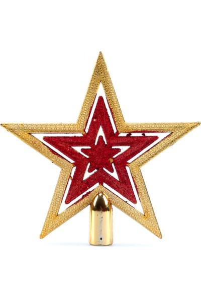 Elitparti Simli Yıldız Yılbaşı Çam Ağacı Tepeliği