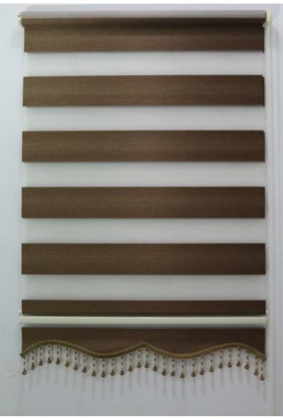 Techstor Abant Serisi Çikolata Kahve Zebra Perde 40 x 200 cm