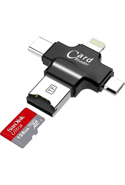 Melefoni USB Lightning, Type C, Micro USB Flash Bellek OTG 3 in 1