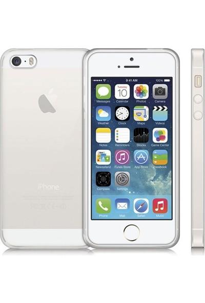 CepToys Apple iPhone 5-5S Silikon Kılıf Şeffaf