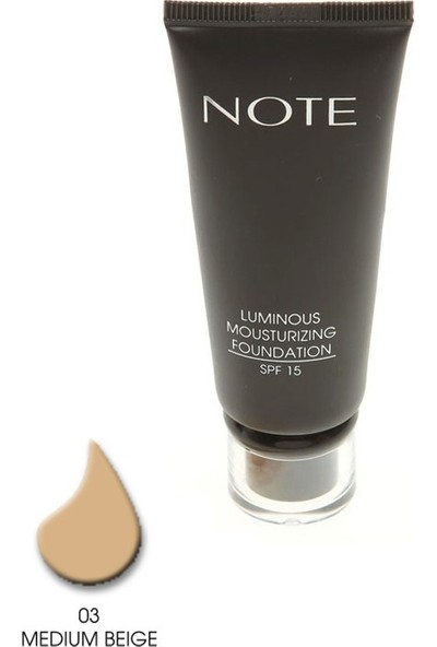 Note Luminous Mousturizing Fondöten Spf15 Medium Beige 03 35Ml
