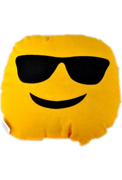 Emoji Yastık - Gözlüklü Emoji Yastık