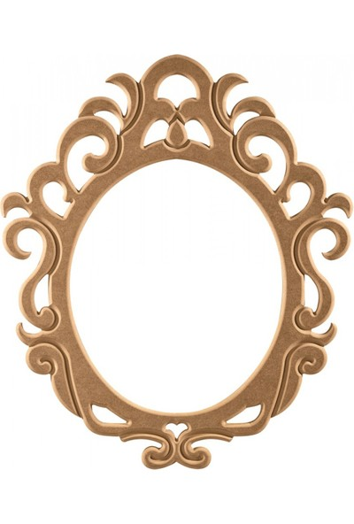 Masifart 8136 Stil Ayna Cilasız Ahşap