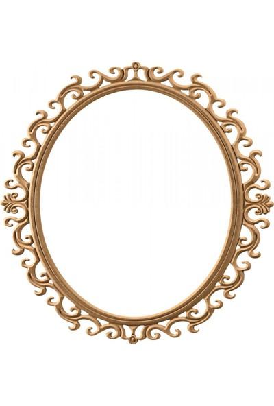 Masifart 8156 Bergama Yuvarlak Ayna Cilasız Ahşap