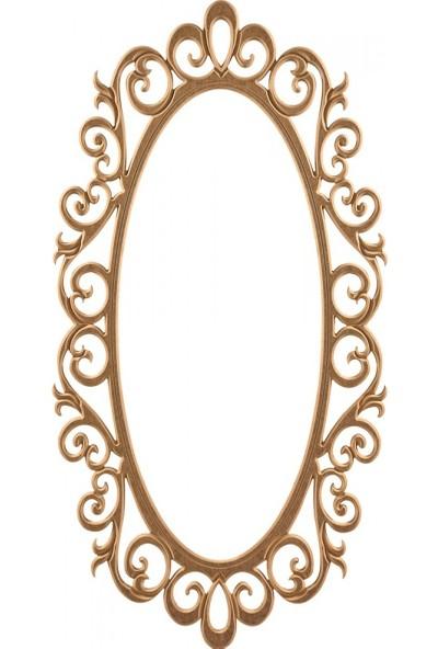 Masifart 8159 Ekselans Ayna Cilasız Ahşap