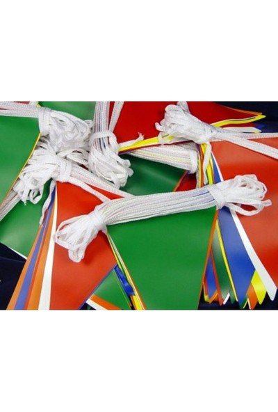Poppy Üçgen Kırlangıç Bayrak 25 Mt(2 Paket)