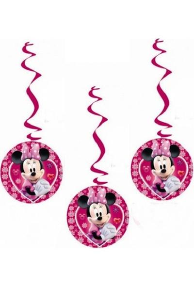 Partypark Minnie Mouse 3'Lü Asma Süs
