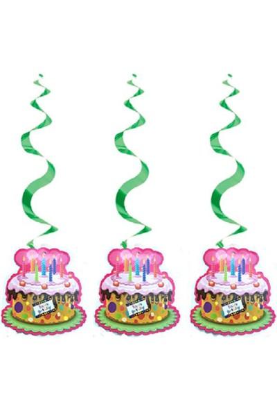 Partypark Happy Birthday 3'Lü Asma Süs