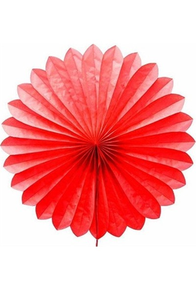 Partypark Kağıt Yelpaze Süs-Kırmızı