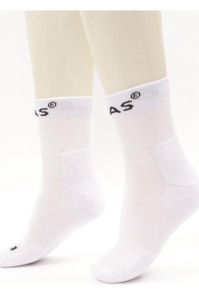 2AS - Multi Sport Koton Çorap Beyaz