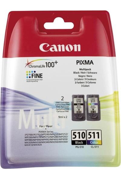 Canon Pixma Mp495 Orijinal Renkli - Siyah 2Li Yazıcı Mürekkep Püskürtmeli Kartuş