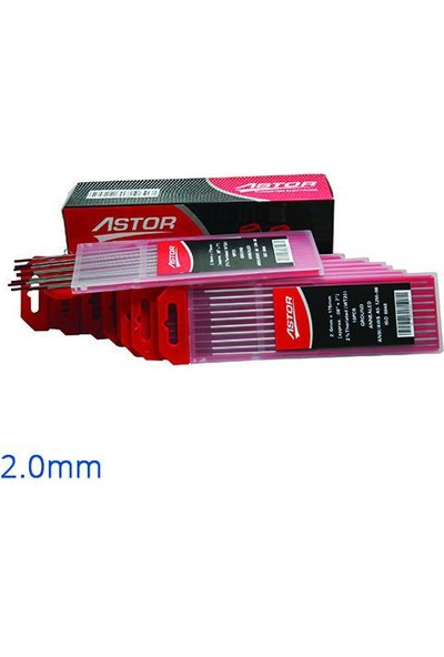 Astor Tungsten Elektrod 2.0 Mm 10'Lu Paket