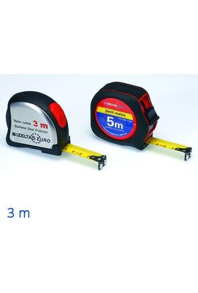 İzeltaş Plastik Stoplu Şerit Metre 3 M