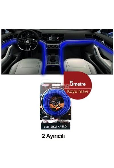 Carub Şerit Neon 12V 5Mt Kablo Tip Koyu Mavi