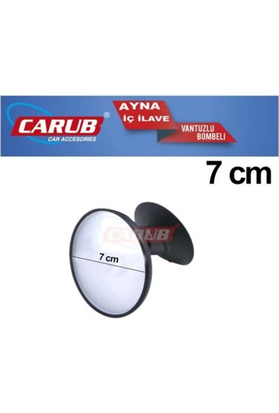 Carub İç Dikiz Aynası Vantuzlu Bombeli Yuvarlak Küçük