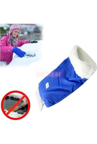 Carub Buz Kazıyıcısı Mavi Eldivenli
