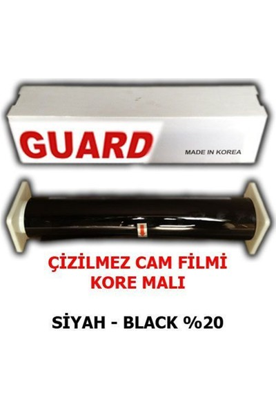 Nettedarikcisi Cam Filmi Çizilmez %20 Siyah ( Black ) 100Cm * 60M
