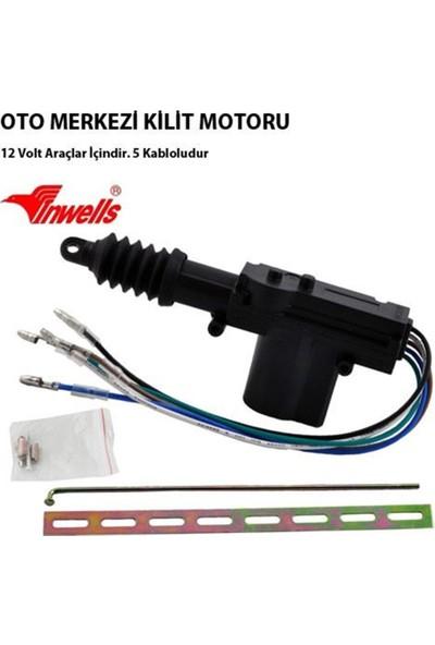 Nettedarikcisi İnwells Merkezi Kilit Motoru Tek Motor 5 Kablo 12 Volt ( Ön Kapı )