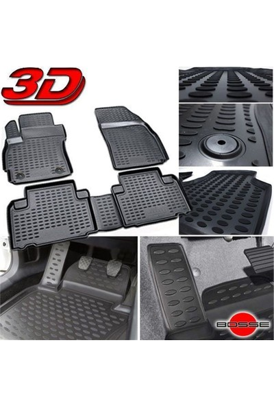 Bosse VW Jetta 3D Havuzlu Oto Paspas 2005-2010 Arası 1. Kalite