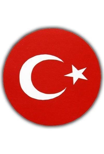Ozy Türk Bayrağı Sticker Yuvarlak ( 4,5Cm Çap )