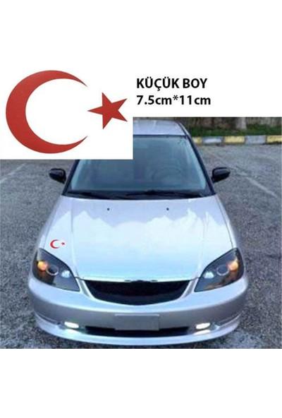 Nettedarikcisi Ozy Ay Yıldız Araba Oto Sticker ( 7,5Cm * 11Cm )