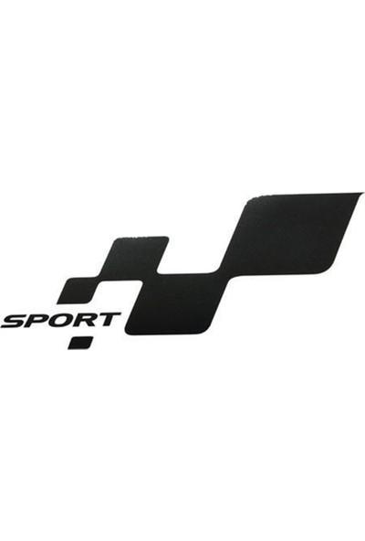 Nettedarikcisi Ozy Sport Damalı Yazı Araba Oto Sticker (7Cm * 13,5Cm) 1 Takım 2 Adet