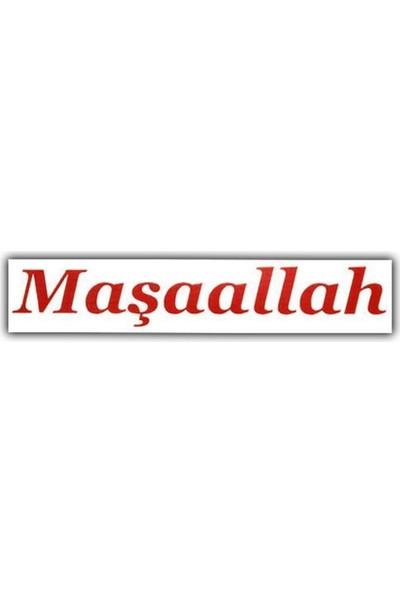 Nettedarikcisi Ozy Maşaallah Yazı Araba Oto Sticker Büyük ( 10Cm * 57Cm )