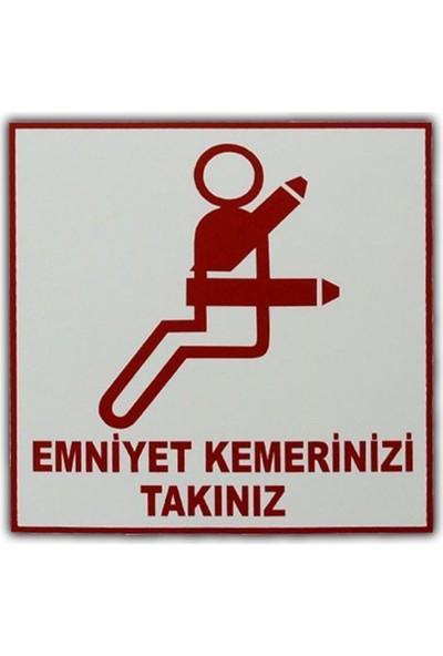 Nettedarikcisi Ozy Emniyet Kemeri Yazı Araba Oto Sticker ( 11Cm * 11Cm )